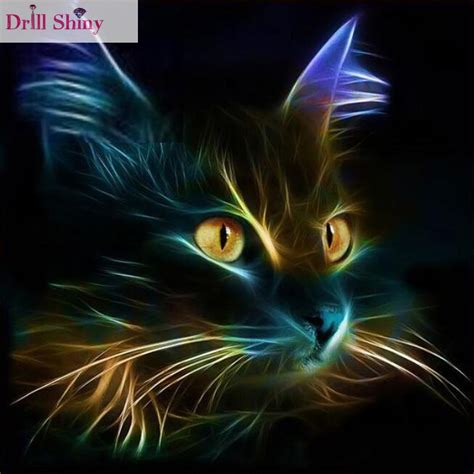 Animal Black Cat For Handphone Promo 1 diy square drill painting cross stitch mosaics 100 cover embroidery animal light