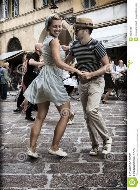 swing hop lindy hop flash mob editorial photo image of groovy
