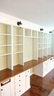 diy modular bookcase remodelaholic build a wall to wall built in desk and
