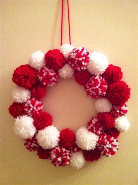 pom pom wreath ideas  pinterest christmas pom pom christmas pom pom crafts  pom
