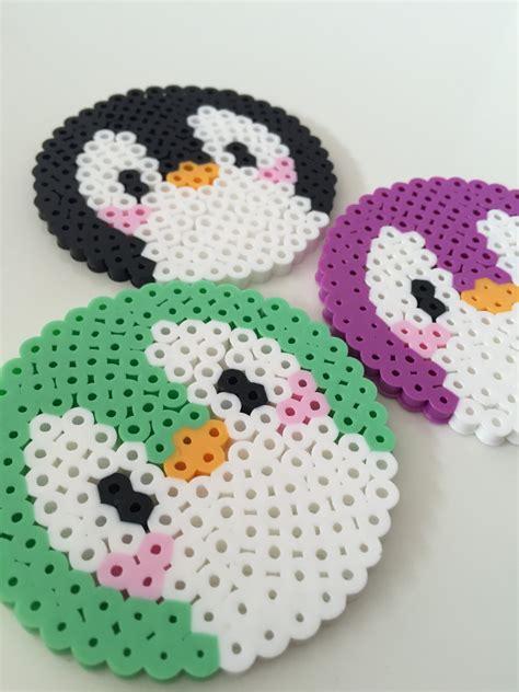 perler bead set penguin perler bead coasters set of 3