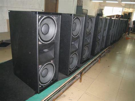 dual 12 quot line array speaker pro flight speaker system