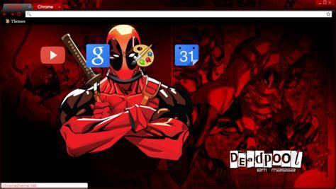 chrome themes deadpool deadpool em massa tema chrome theme themebeta