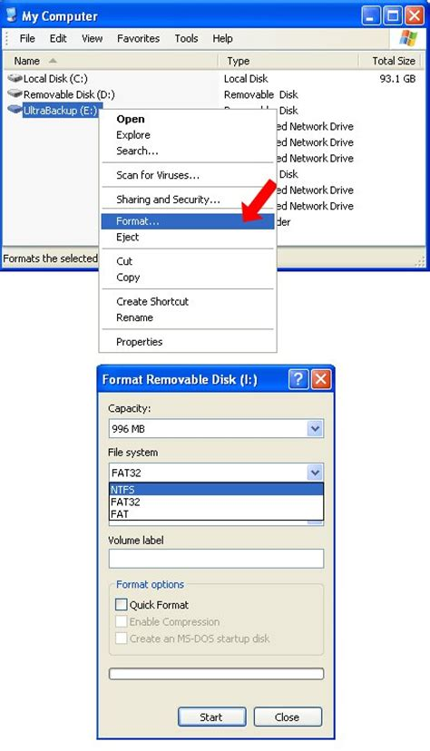format fat32 memory stick how to format usb flash drive to fat fat32 or ntfs on