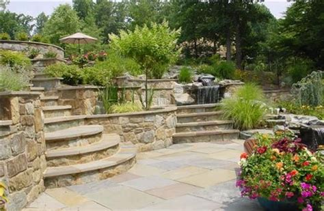 landscaping ideas for hillside backyard types of landscape retaining walls how to build a house