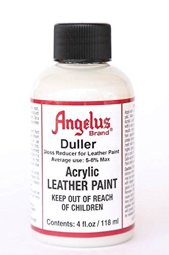 acrylic paint reviews angelus brand acrylic leather paint duller 4oz buy