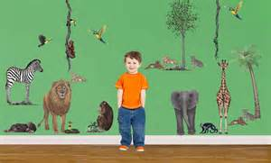 jungle animals wall stickers animal wall stickers jungle wallpaper murals