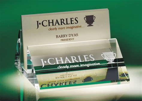 engraved slanted business card holder  plate