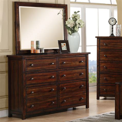 elements international dawson creek 8 drawer dresser and
