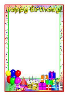 birthday card border templates 1000 images about borders on page