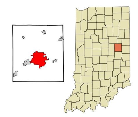 Delaware County Indiana Records File Delaware County Indiana Incorporated And Unincorporated Areas Muncie Highlighted