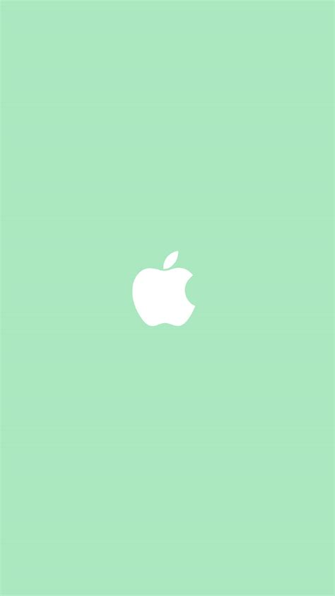 wallpaper iphone 5 flat freeios7 apple simple logo green parallax hd iphone