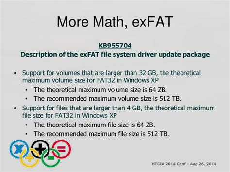 exfat format size limit htcia an introduction to the microsoft ex fat file system