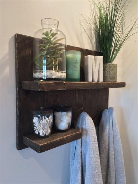 bathroom shelf with towel hooks best 20 towel shelf ideas on pinterest pallet towel rack pallet shelves and diy