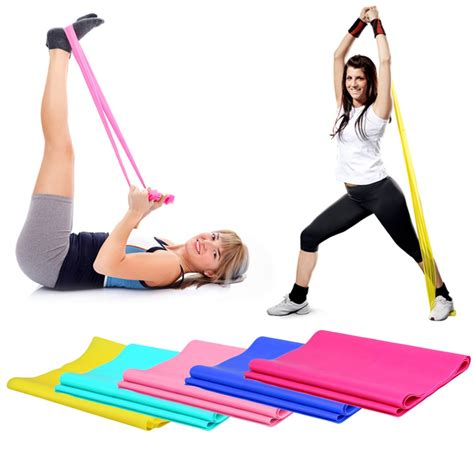 Jual Resistance Band Arms Tali Fitness Wanita aliexpress buy 1 2m elastic pilates rubber stretch exercise band arm back leg fitness