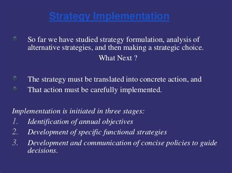 Strategic Management Ppt Slides Mba Students by Strategic Management Process And Stratergic Implementation