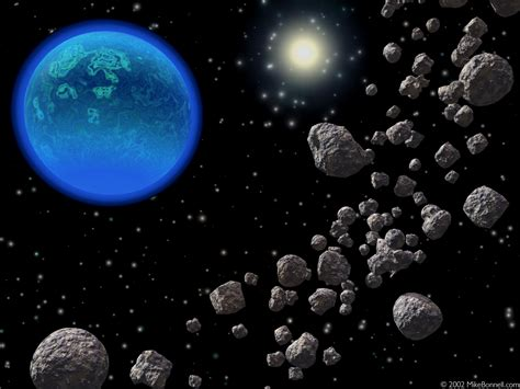 wallpaper bergerak tata surya the asteroid belt