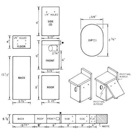 birdhouse and nest box plans for several bird species