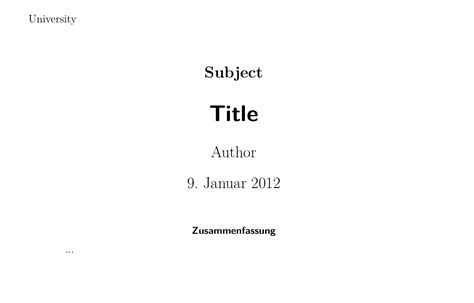 latex tutorial title page koma script how to include abstract into titlepage
