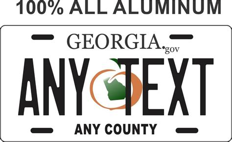 Vanity Plates Ga by Custom Personalized License Plate