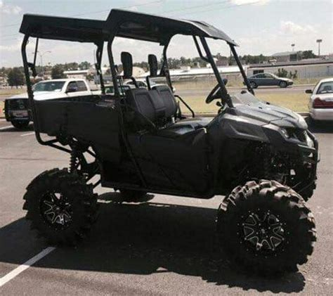 lifted honda pioneer 700 utv 31 quot mud tires check out www hondaprokevin custom honda