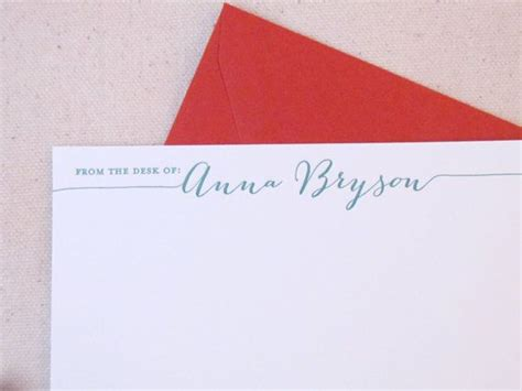 from the desk of stationery letterpress from the desk of personalized stationery set