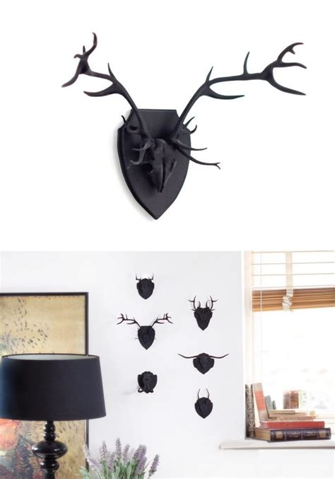 stag head home decor faux deer head home decor