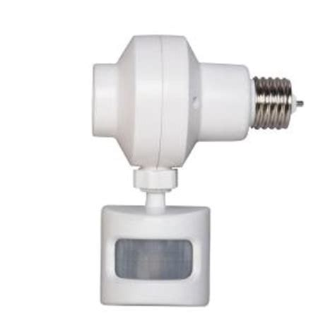 motion sensor outdoor lighting home depot defiant outdoor motion activated light omlc3bc 4