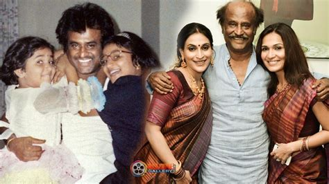 old heroine lakshmi family photos rajinikanth family photos super star rajini with wife