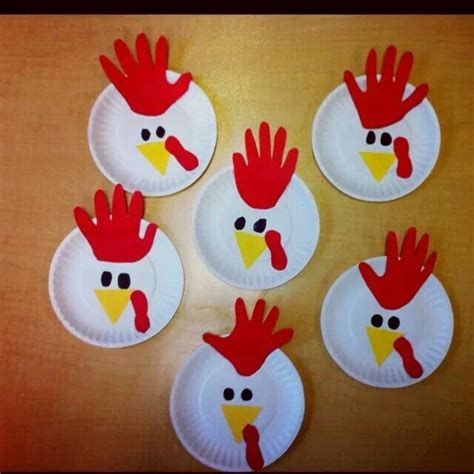 Paper Plate Chicken Craft - henny mask projects preschool