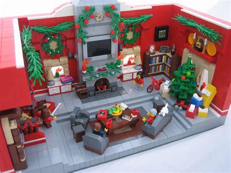 printable living room diorama christmas mocs with red lego bricks the brick bank