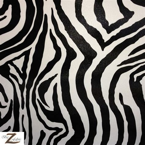zebra pattern upholstery fabric zebra vinyl faux fake leather pleather embossed fabric