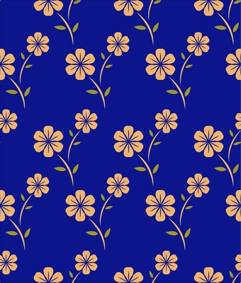 floral pattern repeat vector flower pattern design with repeating style free vector in