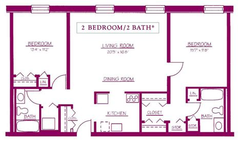 2 Bed 2 Bath House Plans residential apartments moravian square moravian