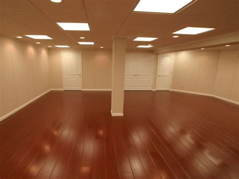 Basement Floor Finishing Wood Laminate Basement Floor Finishing Warrantied Basement Flooring With Wood Design By