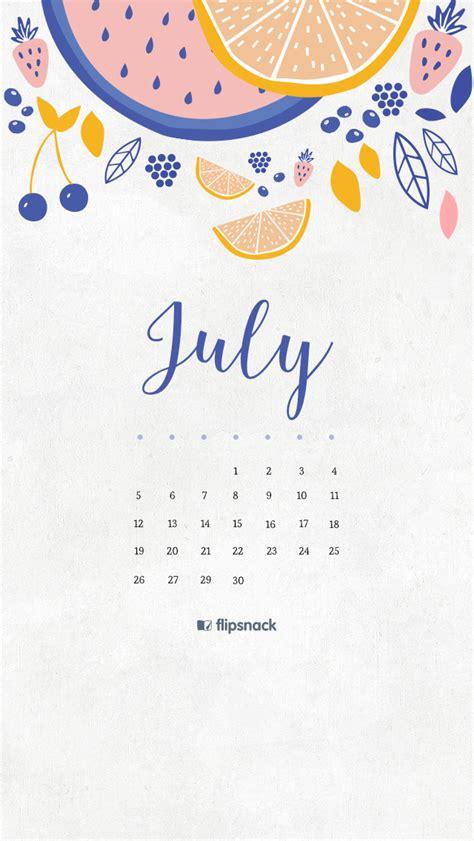 july   calendar wallpaper desktop background