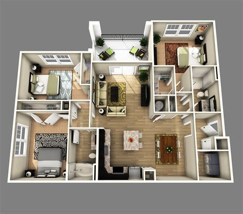 house plans with apartments home design 79 stunning 3 bedroom apartment floor planss