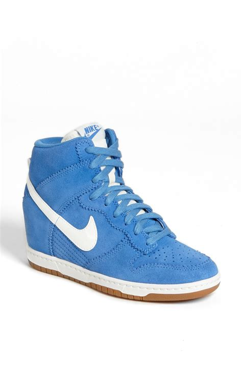 nike wedge sneakers nordstrom nike dunk sky hi wedge sneaker in blue distance blue