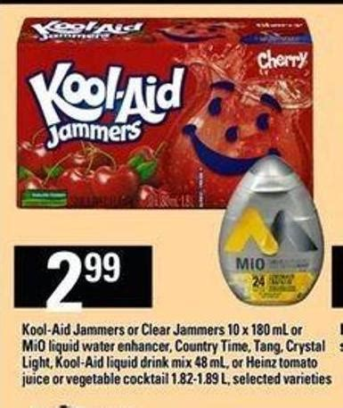 kool aid jammers or clear jammers 10 on sale | salewhale.ca