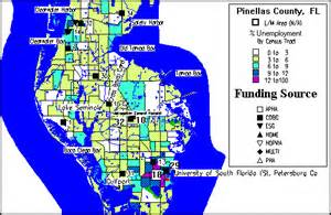 florida points of interest map pinellas county consortium consolidated plan for 1995