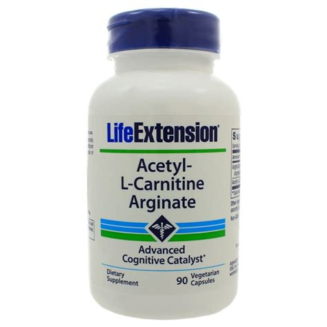 Acetyl L Carnitine Detox by Extension Acetyl L Carnitine Arginate 90 Capsules