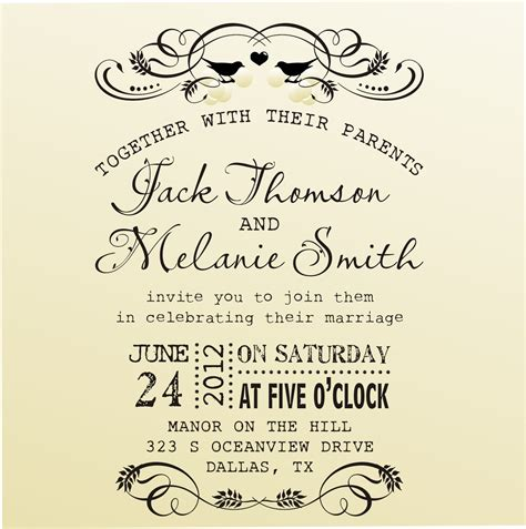 invitation design vintage diy wedding invitation vintage design by lovetocreatests