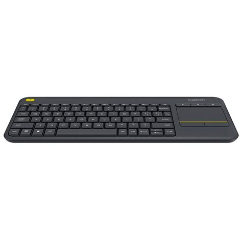 Murah Keyboard Logitech K400 Plus Black logitech wireless touch keyboard k400 plus qwerty uk layout black ebay