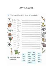 printable what animal are you quiz english worksheets animal quiz