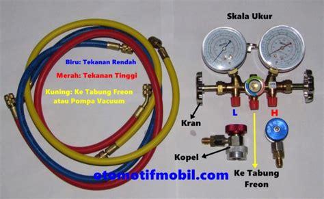 Selang Manifold Ac R410ar32 Eceransatuan cara cek tekanan freon ac mobil menggunakan alat ukur