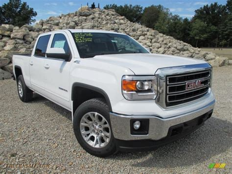 2014 gmc 1500 sle crew cab 4x4 in summit white 564781 truck n sale