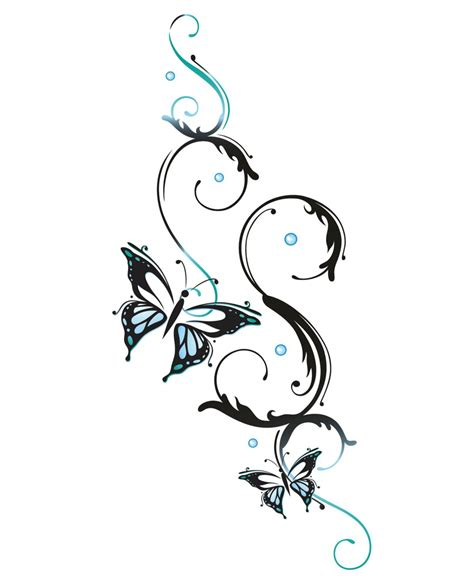small tribal flower tattoos butterfly designs that are more than just beautiful