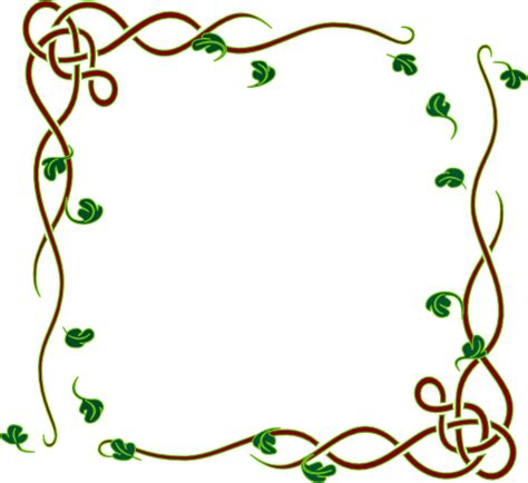 cornici powerpoint leafy frame green clip at clker vector clip