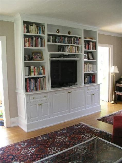 built in tv 25 best ideas about tv bookcase on pinterest vintage
