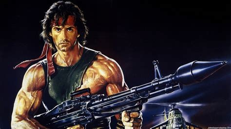 film rambo ii rambo 2 poster wallpaper
